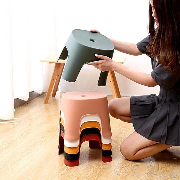 兩個裝 小凳子塑膠板凳家用兒童凳卡通加厚防滑踩腳膠凳腳踏寶寶矮凳洗澡YYP 【快速出貨】