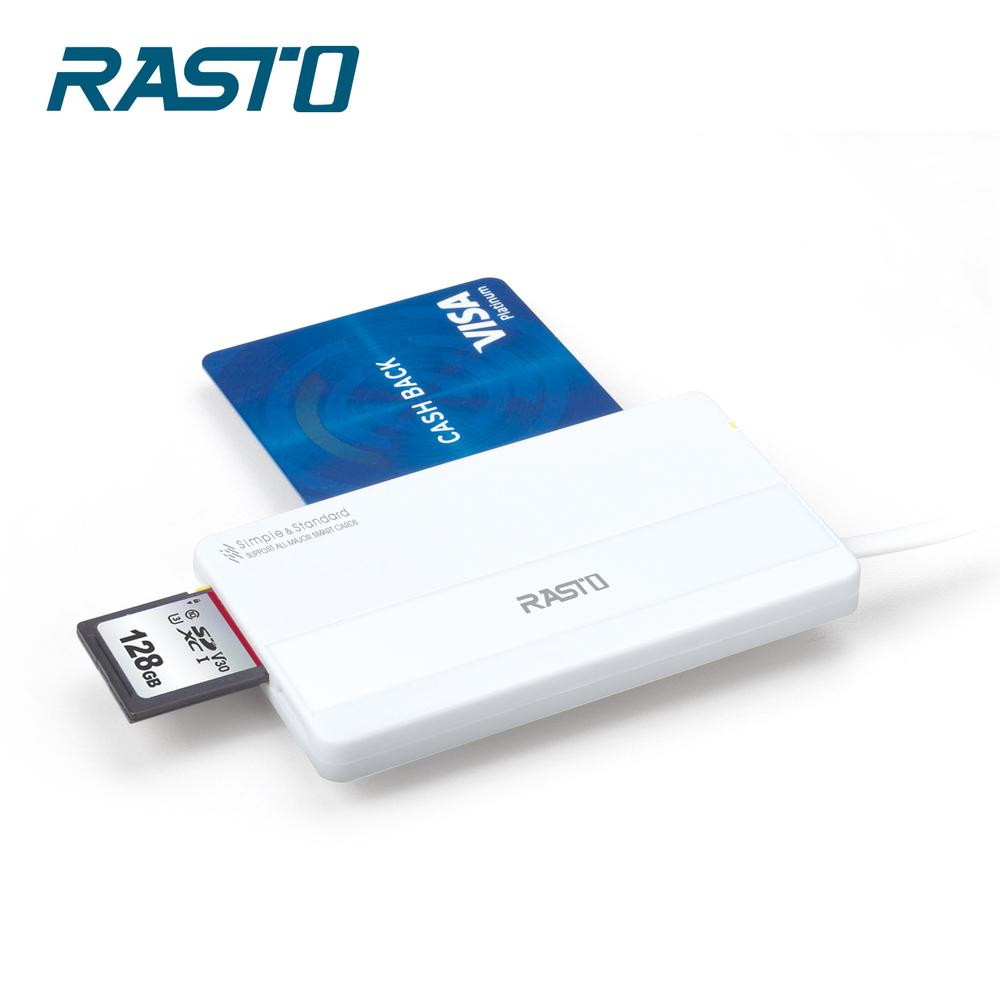 RASTO RT4 超薄型晶片ATM+記憶卡複合讀卡機