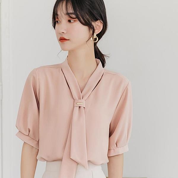 夏季雪紡襯衫女裝夏裝2020年新款潮流短袖上衣服洋氣小衫時尚氣質 陽光好物