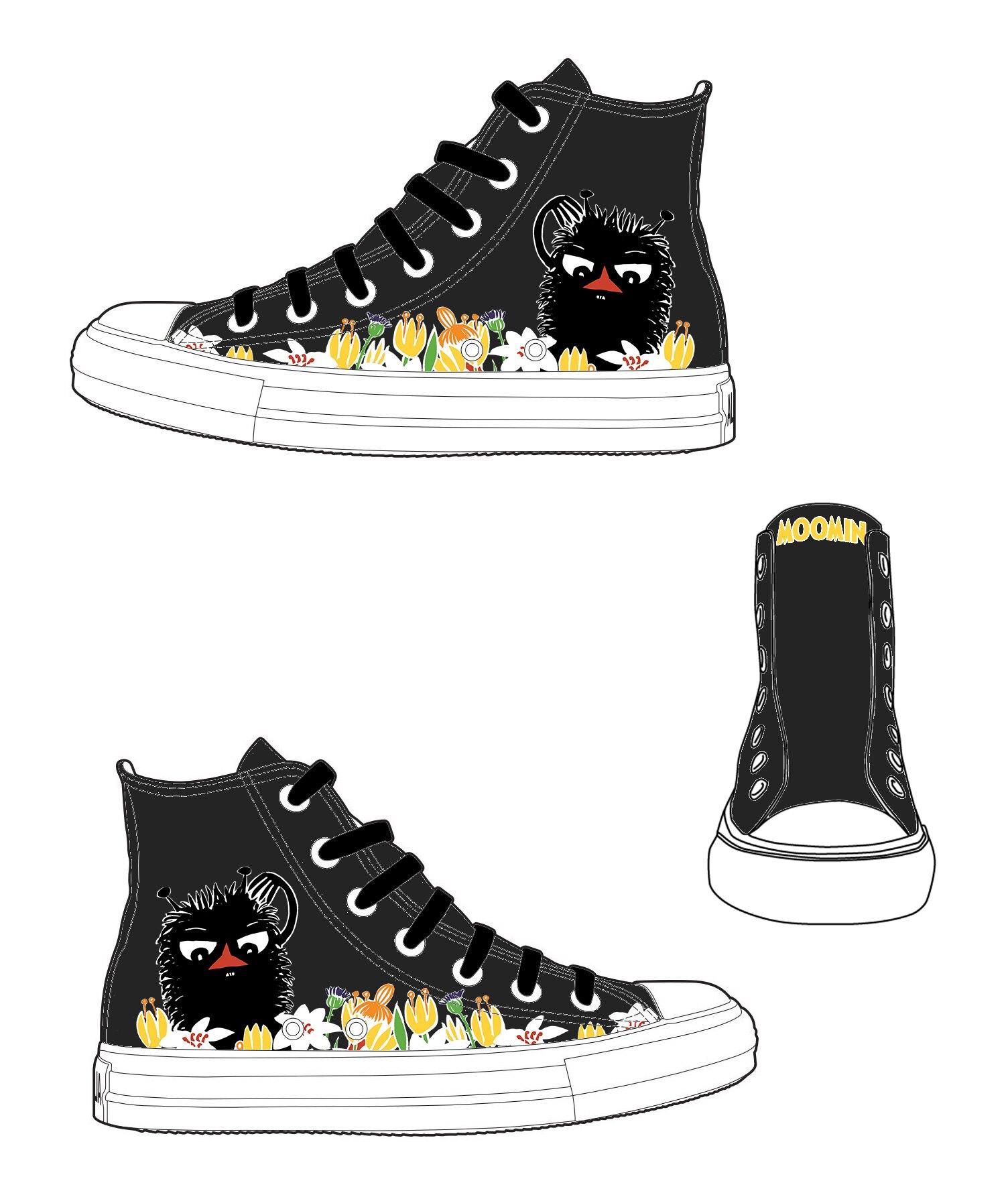 【Moomin】AE17 (黑鞋黑帶) - 帆布鞋 (男/女)