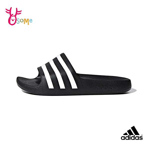adidas拖鞋 兒童拖鞋 男女童拖鞋 防水拖鞋 運動拖鞋 室內室外拖鞋 S9349#黑白◆OSOME奧森鞋業