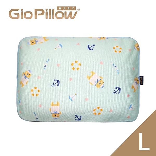 韓國GIO Pillow 超透氣防螨兒童枕頭L號-水手熊藍[衛立兒生活館]