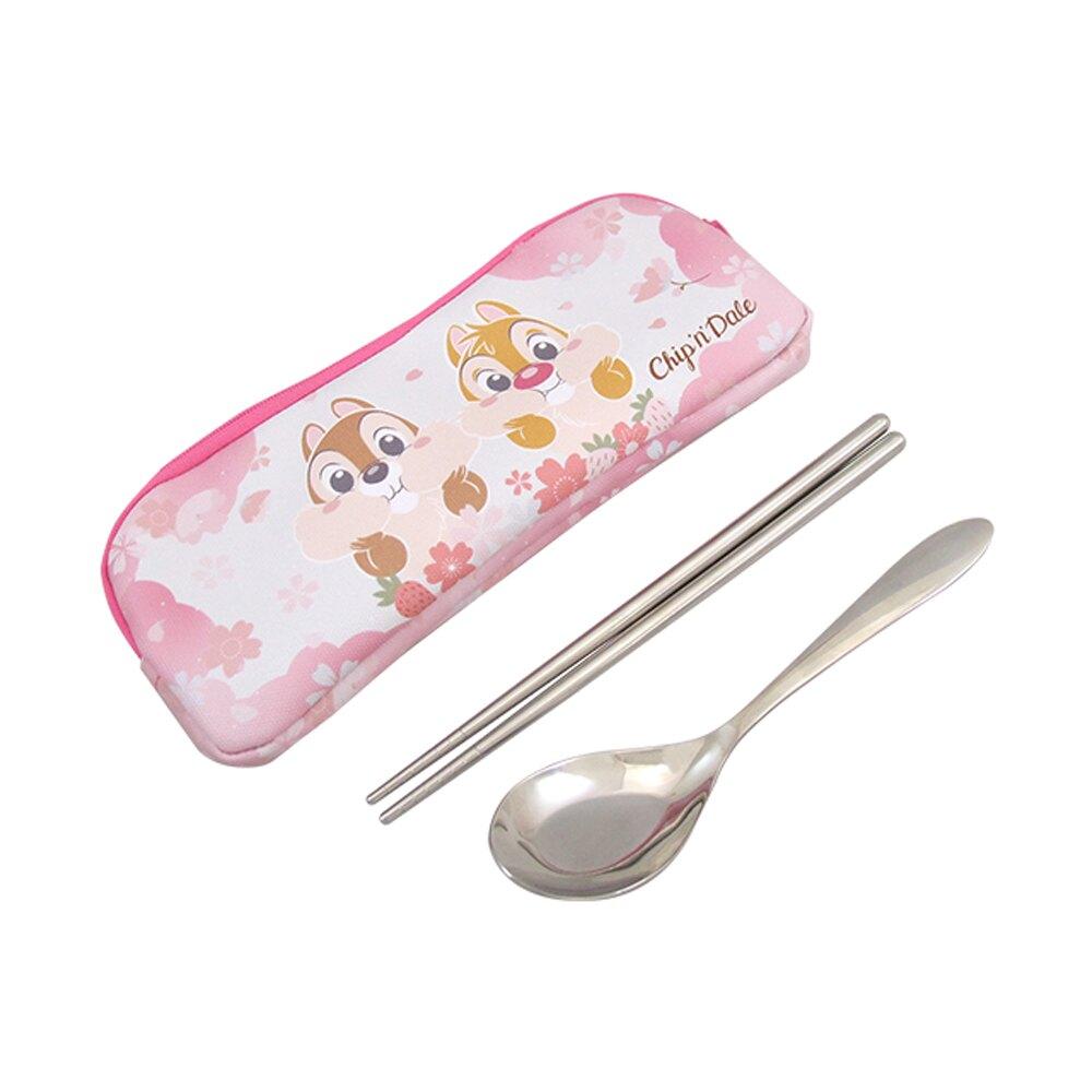 迪士尼 DISNEY 不鏽鋼餐具 筷子 湯匙 環保 餐具組 奇奇蒂蒂環保餐具組 《推推生活》