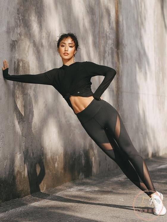 瑜伽褲 緊身褲提臀彈力健身褲女運動蜜桃臀跑步速干訓練瑜伽褲
