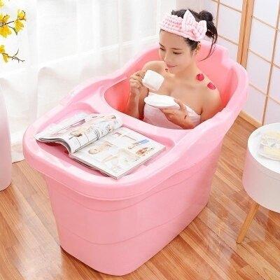 浴桶 大號家用洗澡桶塑料浴桶加厚成人泡澡桶兒童浴盆沐浴缸游泳桶FC