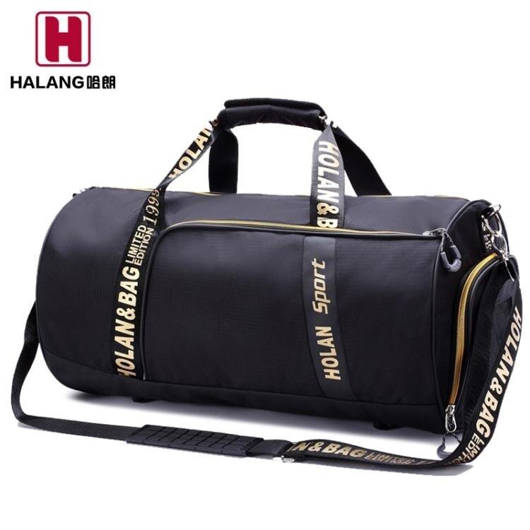健身包男運動包訓練包行李袋短途旅行包手提瑜伽包女圓筒包單肩包