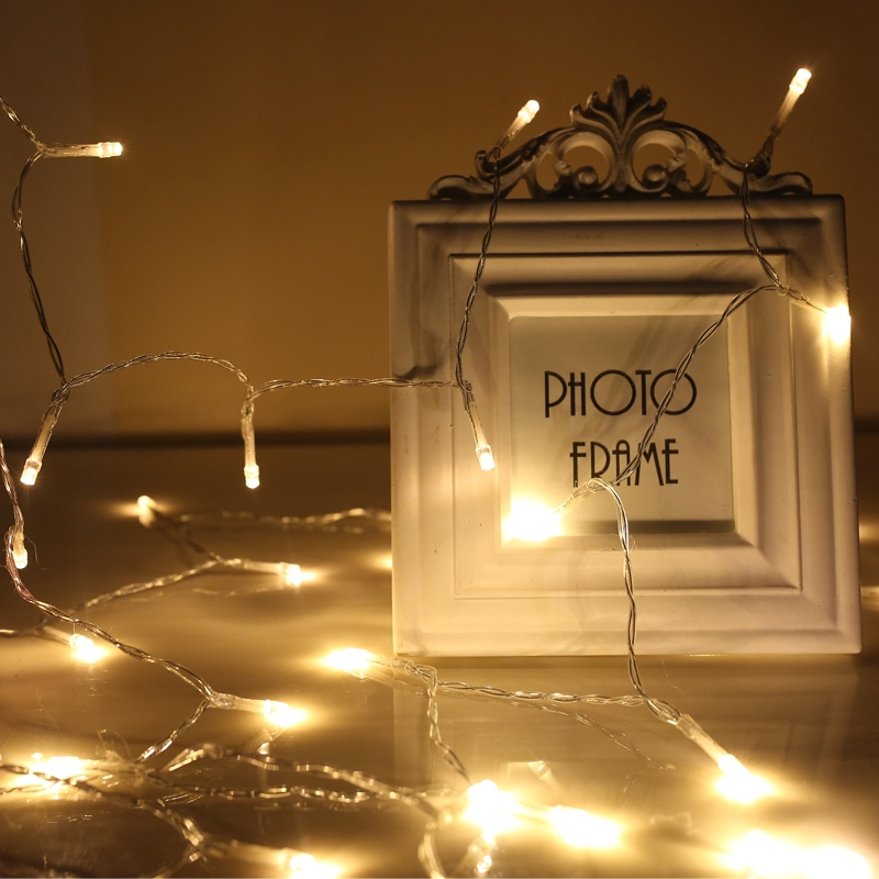 電池款led小彩燈閃燈串燈滿天星圣誕節房間臥室布置裝飾燈星星燈