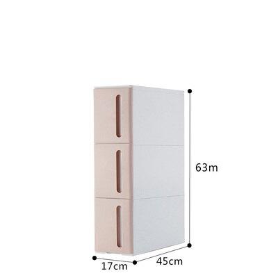 儲物縫隙櫃 17cm夾縫收納櫃塑膠抽屜式衛生間廚房冰箱邊櫃子沙發縫隙邊縫窄櫃 『MY5456』