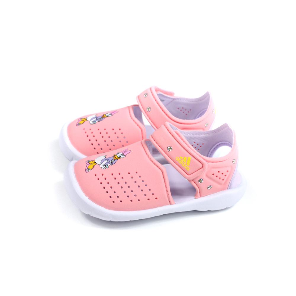 adidas FORTASWIM STRIPES I 涼鞋 水陸 粉橘 黛西 小童 童鞋 FW6058 no844
