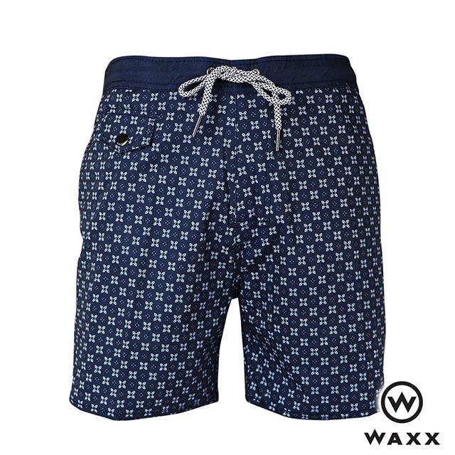 WAXX天龍國快乾型男海灘褲(海藍色)(15英吋)
