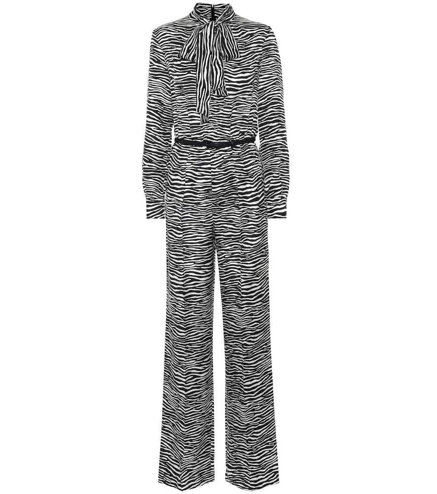 Darling zebra-print silk jumpsuit
