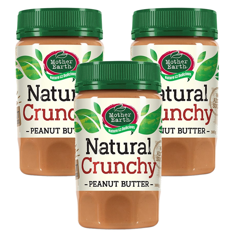 壽滿趣 - 紐西蘭Mother Earth超級花生醬3瓶組-顆粒 (380gx3)