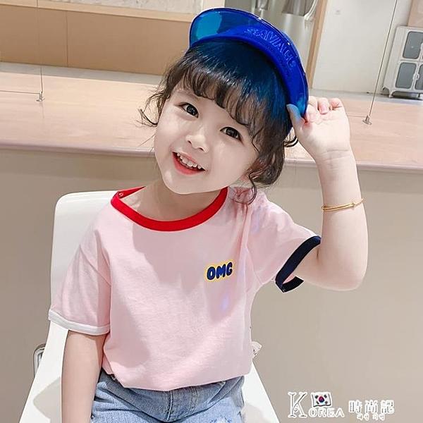 嬰兒童純棉小童夏裝女童短袖t恤2021年夏季新款半袖上衣洋氣韓版T