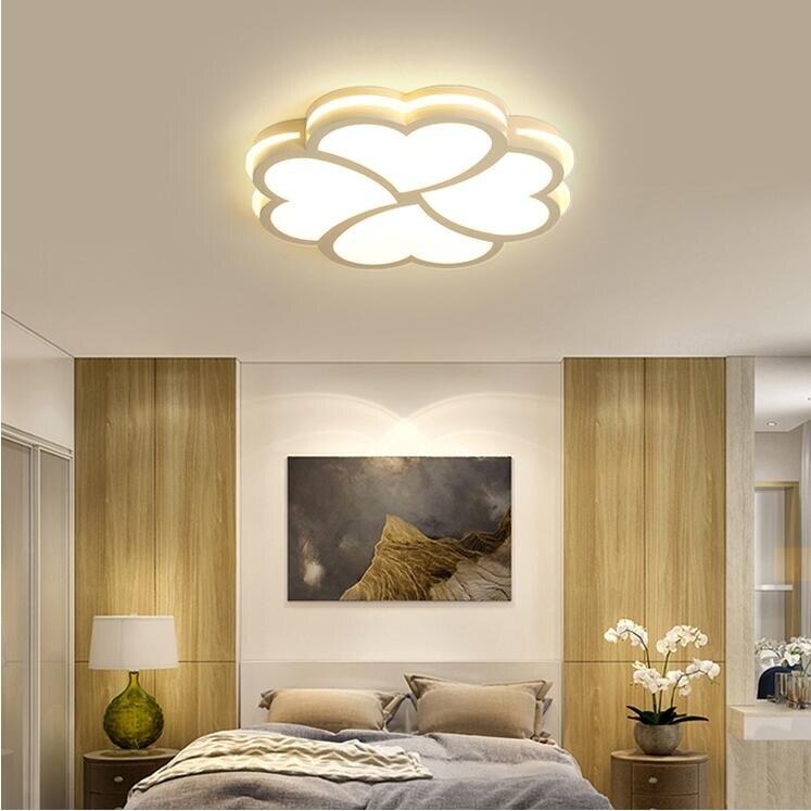 臥室燈簡約現代圓形 LED吸頂燈客廳主臥兒童燈飾溫馨浪漫房間燈具YYJ() 新年特惠