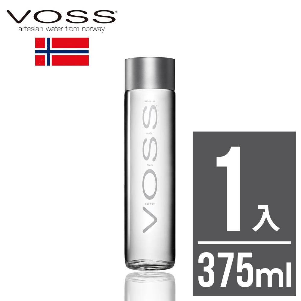 任選【VOSS芙絲】挪威極致純淨礦泉水(375ml)-時尚玻璃瓶