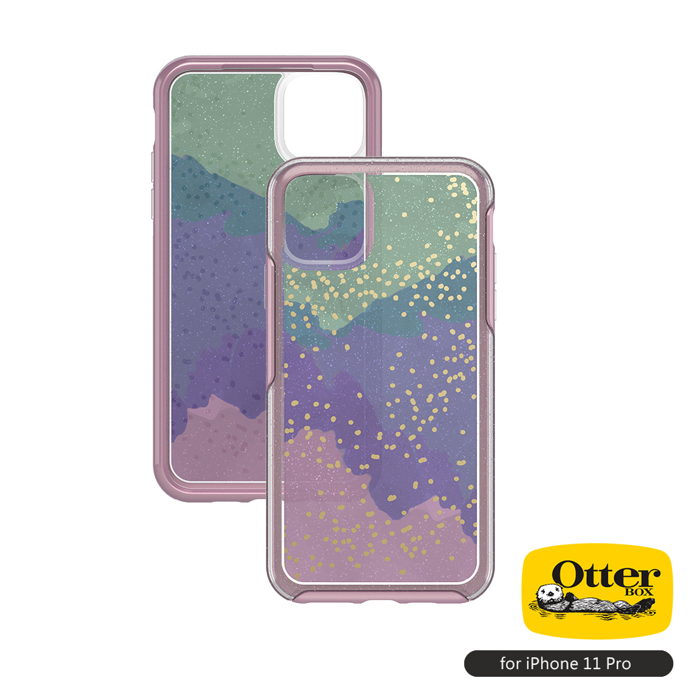 OtterBox iPhone 11 Pro(5.8吋)專用 防摔吸震手機保護殼-Symmetry炫彩透明系列■炫彩綠粉