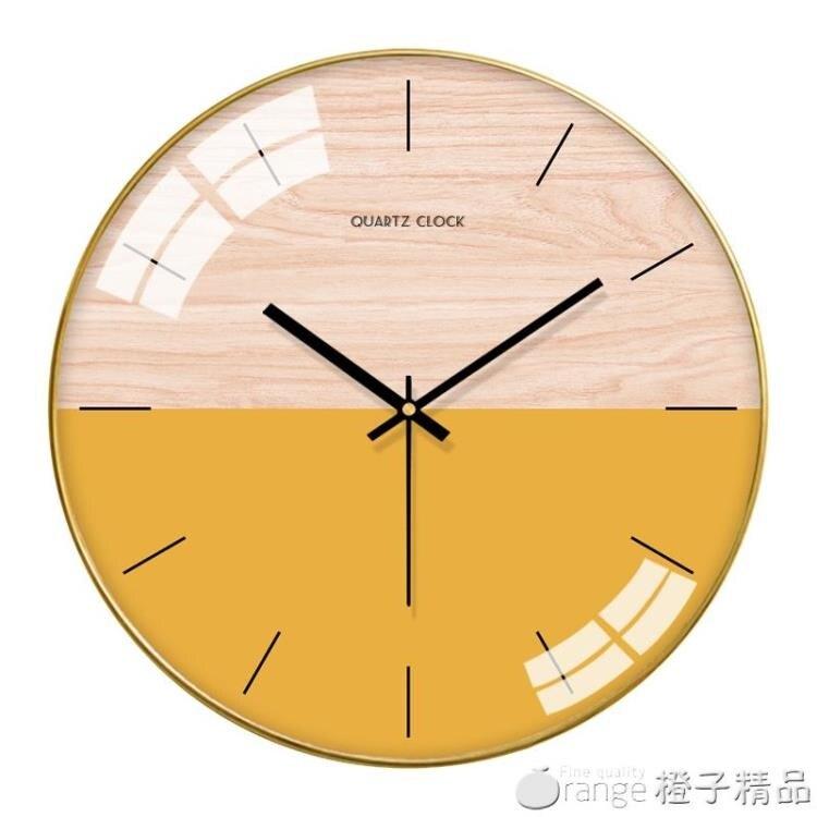 梵現代掛鐘客廳北歐表掛牆家用時尚簡約鐘表臥室靜音時鐘創意掛表