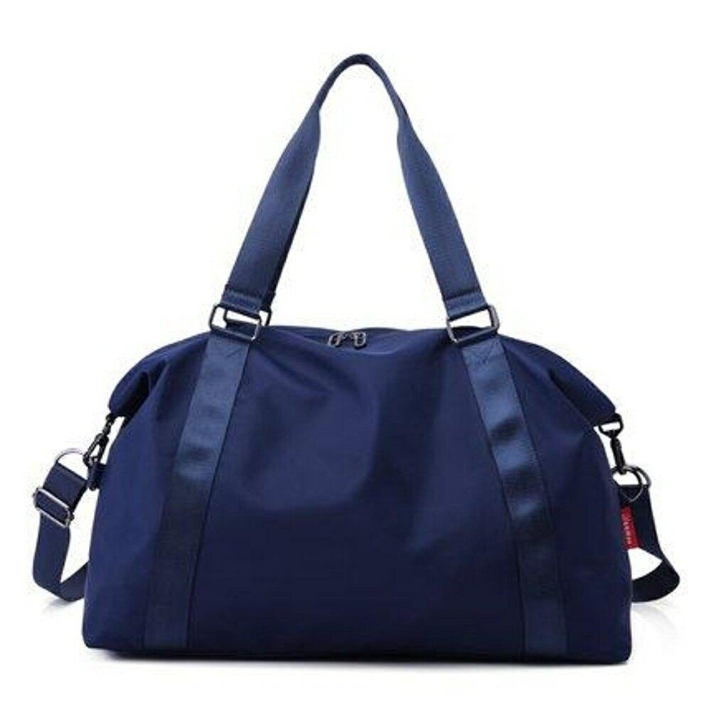 健身包 手提旅行包大容量防水可折疊旅行袋男女行李包休閒健身包 2色【全館免運 限時鉅惠】