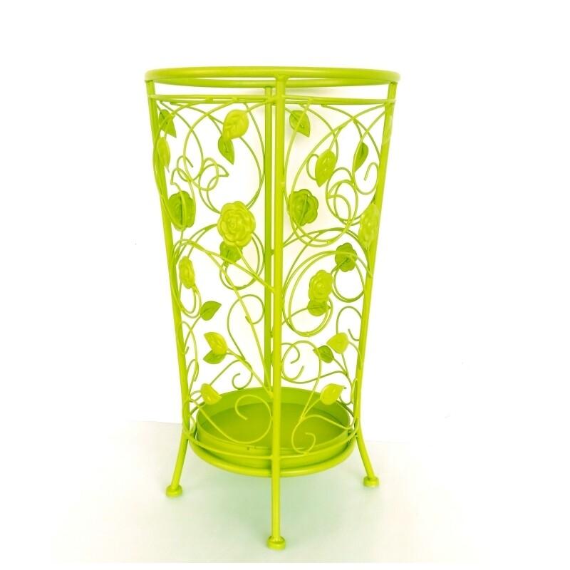 decobox舞藤螢光綠圓形萬用傘桶(北歐工業風傘架紙簍收納桶花盆套颱風下雨)