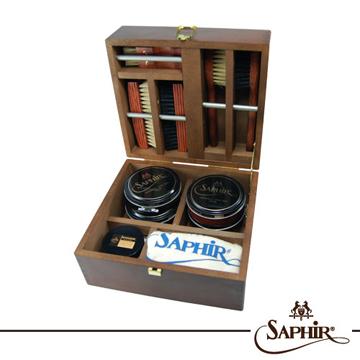 【SAPHIR莎菲爾 - 金質】實木保養禮盒