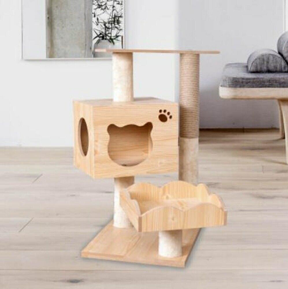 貓跳台 家具板貓爬架木紋貓抓板貓窩貓跳台貓咪玩具【天天特賣工廠店】