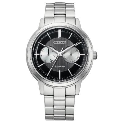 CITIZEN 星辰 Eco-Drive 光動能不鏽鋼日期顯示手錶-41mm(BU4030-91E)