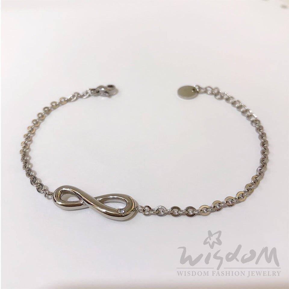 威世登時尚珠寶 無限白鋼手鍊 ZNC00008-BAHX
