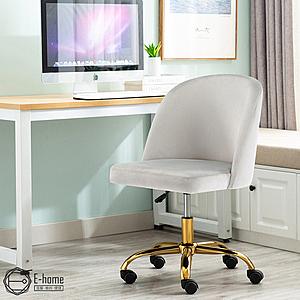 E-home Wallis華莉絲輕奢簡約造型電腦椅-兩色可選灰色