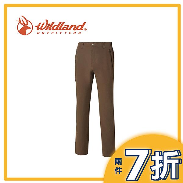 【Wildland 荒野 男 彈性CORDURA抗UV長褲《深卡其》】0A61392-63/抗UV/抗皺/休閒褲/耐熱抗寒