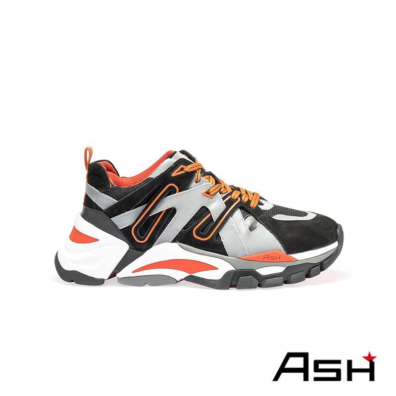 ASH FREE 撞色厚底老爹鞋 黑橘色