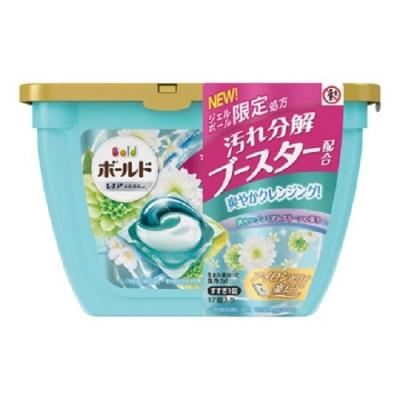 日本版【P&G】2020最新版 第五代 超強濃縮洗衣膠球 盒裝(17顆入)-白金花香
