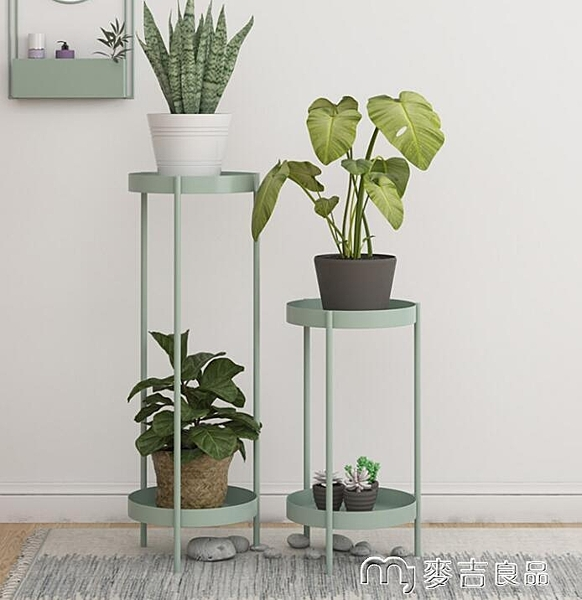 花盆架室內花盆架簡約綠蘿落地式輕奢多層置物架北歐客廳花架花架子 麥吉良品YYS