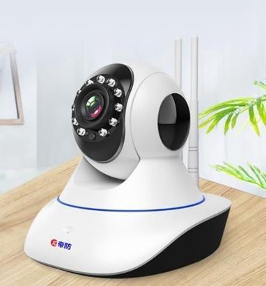 監控攝影機 無線攝像頭wifi可連手機遠程視頻監控器家用高清夜視套裝  DF