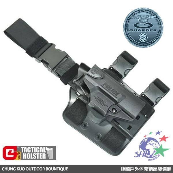 GUARDER 警星 G4 V2版值勤用腿掛式防搶槍套 / Walther PPQ 專用 / G4-PPQ(E)V2