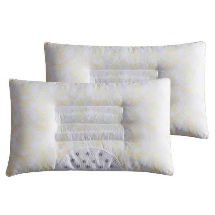 決明子枕芯枕頭磁石枕 一對裝 學生單人護頸枕成人羽絲絨枕wy