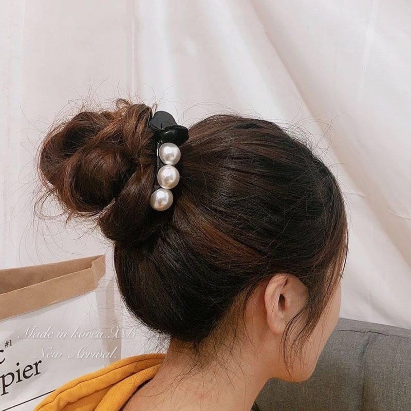 韓國飾品-氣質簡約珍珠髮夾