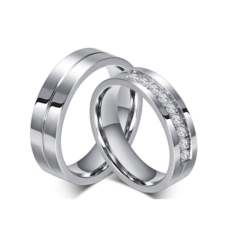 316小舖c531(優質鈦鋼戒指-簡約時尚情侶鋼戒-單件價 /銀色對戒/情人對戒/創意禮物/過年