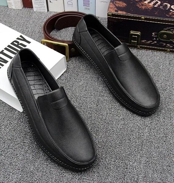 膠鞋 男時尚雨鞋雨靴防水防滑低筒仿皮鞋廚房廚師專用膠鞋工作爸爸套鞋