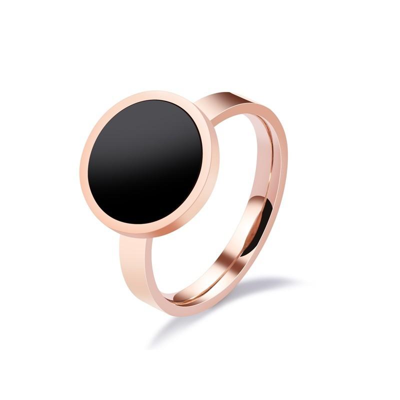 316小舖c465(優質鈦鋼戒指-黑色個性鋼戒指-單件價 /黑色戒指/女性戒子/女性鋼戒/生日禮