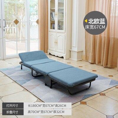 折疊床-折疊床單人床夏家用辦公室躺椅便攜午休睡實木板床簡易成人陪護床
