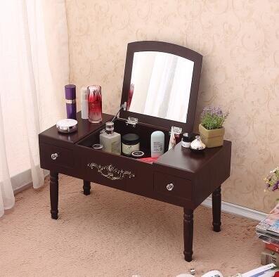 特價迷你化妝台 化妝櫃化妝鏡小型梳妝台簡易翻蓋化妝桌台式飄窗