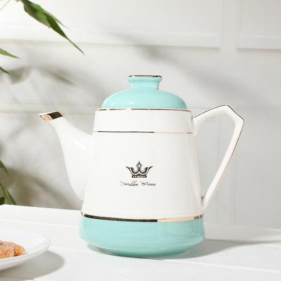 陶瓷茶壺家用冷水壺單壺大號耐高溫帶過濾孔泡茶壺涼水壺咖啡壺