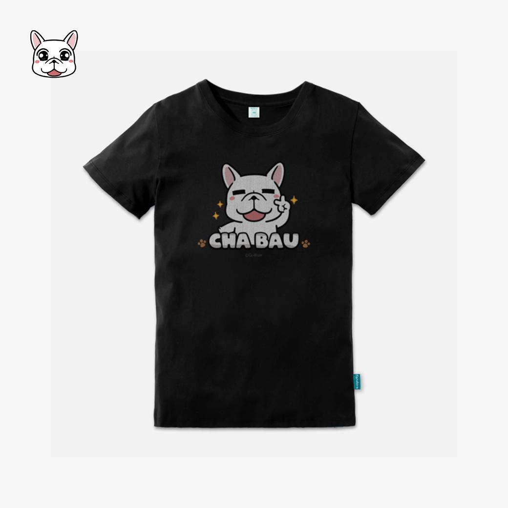 豆卡頻道-茶包經典款企鵝黑T恤