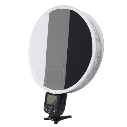 折疊柔光罩 灰卡機頂柔光箱30CM閃光燈圓形小型柔光箱便攜可折疊補光罩戶外人像專業攝影器材 『MY5583』