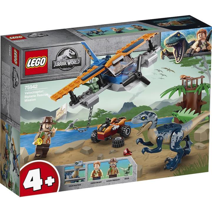 LEGO 樂高  75942 Velociraptor: Biplane Rescue