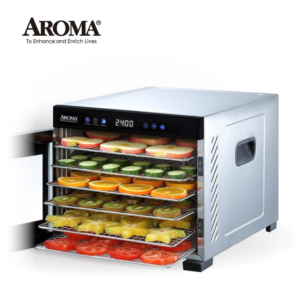 【強勢升級款】美國 AROMA 紫外線全金屬六層乾果機 果乾機 食物乾燥機 AFD-965SDU