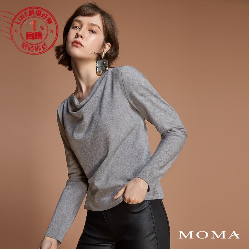 MOMA(92G086)羅馬領素色上衣