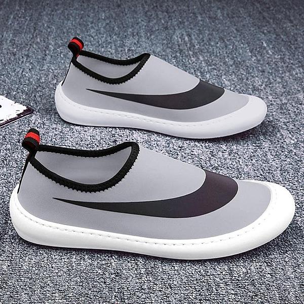 夏季冰絲帆布開車鞋子男一腳蹬懶人透氣休閒漁夫老北京布鞋小白鞋 錢夫人小鋪