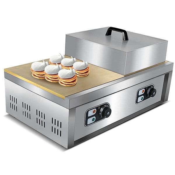 扒爐 萬卓舒芙蕾機銅鑼燒機器商用加厚大型自動控溫煎餅機鬆餅機設備 源治良品