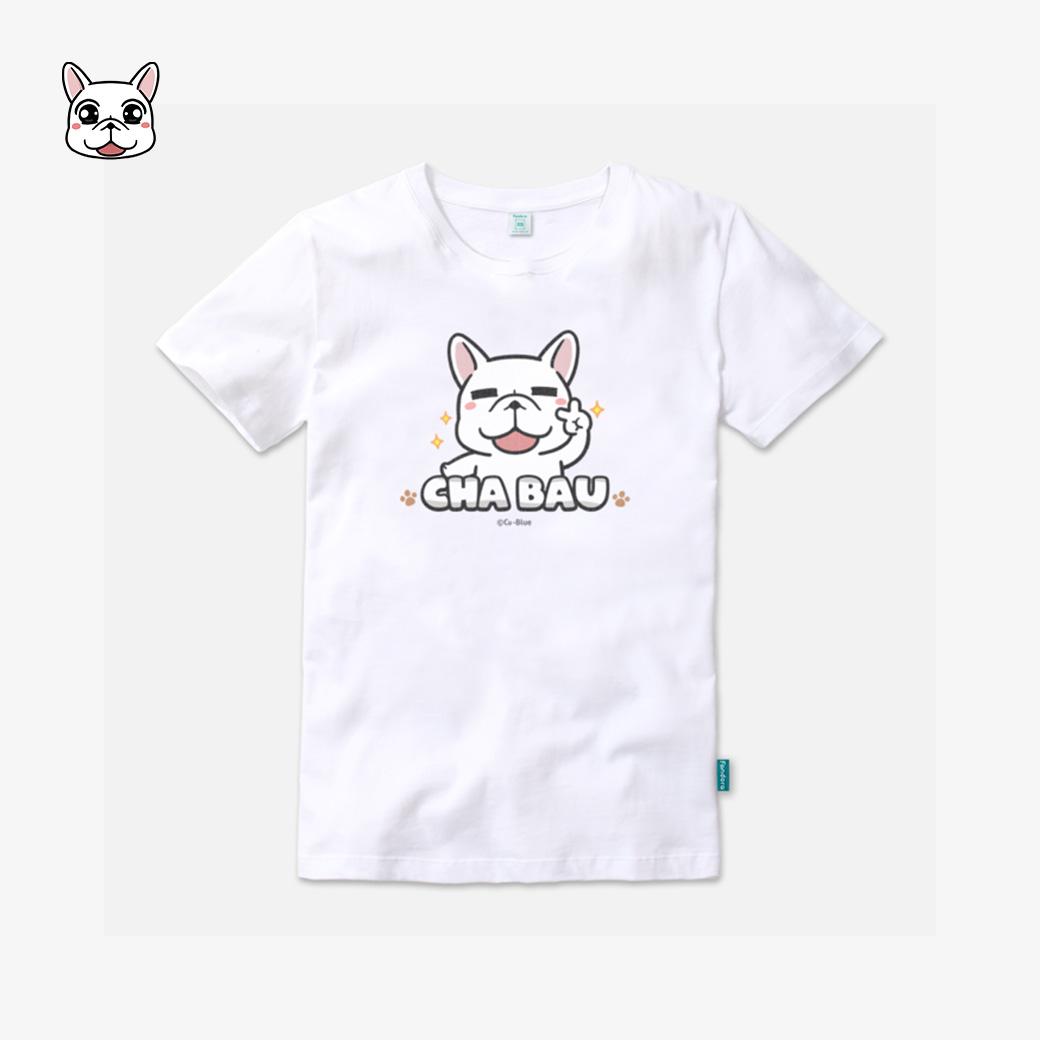 豆卡頻道-茶包經典款棉花白T恤
